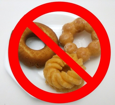 ドーナツと禁止マーク